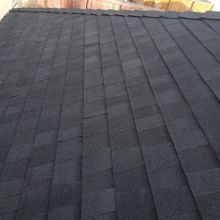 Mystique 42 architectural shingles installed with Silhoutte high definition ridge cap.